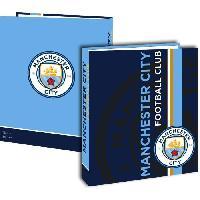 Classeur MANCHESTER CITY Classeur Carton - Adolescent - 24x32cm - Bleu - Enfant Garcon