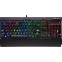 Clavier D'ordinateur CORSAIR Clavier Gamer Mécanique K70 LUX RGB Cherry MX Red (CH-9101010-FR)
