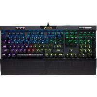 Clavier D'ordinateur CORSAIR Clavier mecanique Gamer K70 RGB MK.2 RAPIDFIRE. Backlit RGB LED. Cherry MX Speed -CORCH9109014FR -