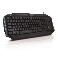Clavier D'ordinateur GENIUS Clavier Gamer Scorpion K5 - Filaire - Retroeclaire 7 couleurs - Windows 10 - 8.1 - 8.0 - 7.0 -Vista - XP - Noir