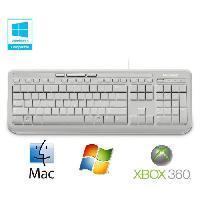 Clavier Microsoft Clavier Wired Keyboard 600 Blanc