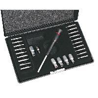 Cle A Cliquet - Cle A Douille - Cle Dynamometrique MANNESMANN Jeu de 26 clés a douille de précision + embouts - Noir