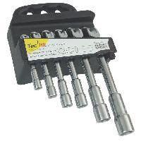 Cle A Tube - Cle A Pipe - Cle A Pipe Debouchee TEC HIT Jeu de 6 clés a pipe débouchées de 8 a 19 mm Tech-it
