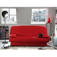 Clic-clac - Banquette Clic-clac COCO Banquette clic-clac convertible lit 3 places tissu 100 coton rouge