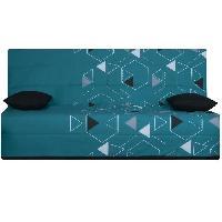 Clic-clac - Banquette Clic-clac OPS - SPLOT Banquette clic-clac 3 places - Tissu Poly Bleu - Made in France - L 190 x 95 cm Aucune