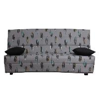 Clic-clac - Banquette Clic-clac SPLOT Banquette clic clac 3 places - Tissu motif Puma - Style contemporain - L 190 x P 95 cm