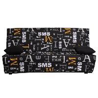 Clic-clac - Banquette Clic-clac SPLOT Banquette clic clac 3 places - Tissu motif sms - Style contemporain - L 190 x P 95 cm
