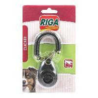 Clicker - Sifflet - Disque - Bipper RIGA Clicker de rappel S / B - Noir - Pour chien