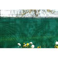 Cloture - Canisse - Brise Vue - Grillage - Panneau Brise vue vert 130 gm occultation a 85 1 x 5 m