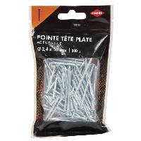 Clou - Pointe Pointe a tete plate acier - 2.3x50 mm - 200gr