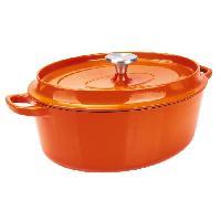 Cocotte Cocotte a rotir avec couvercle SPECIALS Fonte - D29 cm - Orange