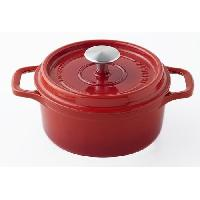 Cocotte Cocotte ronde - D 18 cm - Rouge rubis - Fonte emaillee - Tous feux dont induction