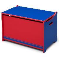 Coffre A Jouets Coffre a jouets en bois Bleu et rouge