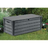 Coffre D'exterieur - Rangements KETER Coffre de rangement en résine 445L pour le jardin - 145x69.7x60.3cm - Gris