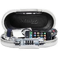 Coffre Fort MASTER LOCK Mini-coffre de rangement portable pour voyage avec cable de securite - Blanc