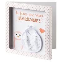Coffret Cadeau Bebe BABYCALIN Carte surprise + Enveloppe Marraine