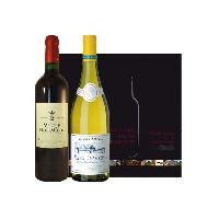 Coffret Cadeau Coffret Duo Bordeaux Bourgogne Blanc & Rouge