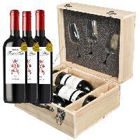 Coffret Cadeau Coffret Vin Trio  Dégustation avec verres INAO