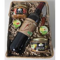 Coffret Cadeau Coffret cadeaux Panier avec vins. terrines et accompagnement - Bio - Generique