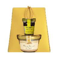 Coffret Cadeau Epicerie - Epicerie CANARDIE Panier Duo Complicité. contient un bloc de foie gras de Canard et son confit de figue