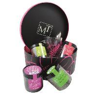 Coffret Cadeau Epicerie - Epicerie Coffret The - Avec mug en verre et cuillere a the - Boite ronde