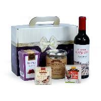 Coffret Cadeau Epicerie - Epicerie JEAN DE VEYRAC Coffret Valisette Gourmande. contient 5 produits de terroir et 1 vin