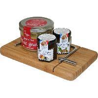 Coffret Cadeau Epicerie - Epicerie LES RECETTES CUITES AU CHAUDRON ET JEAN CIRON - Corbeille planche de foie gras 250g - Lucien Georgelin