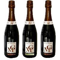 Coffret Cadeau MICHEL GONET 2009 Coffret Découverte Terroir 3 Bulles Champagne Brut - Blanc de Blancs - 3 x 75 cl