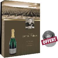 Coffret Cadeau coffret vide Joly de Trebuis pour 2 bout et bouchon champagne Generique