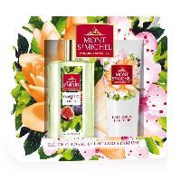 Coffret De Parfum MONT SAINT-MICHEL Coffret Eau de Cologne Fraicheur de Figue 75 ml + Lait Corps Parfumé 75 ml - Mont St Michel