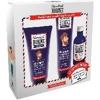 Coffret De Rasage BLONDEPIL HOMME Coffret Gel Nettoyant + Gel de Rasage Transparent + Huile a Barbe