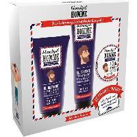 Coffret De Rasage BLONDEPIL HOMME Coffret Gel Nettoyant + Gel de Rasage Transparent + Soin a Barbe
