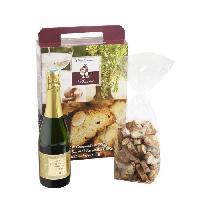 Coffret Gastronomique Coffret cadeau Sucre Craquants aux amandes 250g et bouteille Clairette 37.5cl