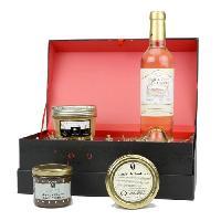 Coffret Gastronomique D de TOULZAC M. de Turenne Coffret de foie gras. chutney. caneles et vin