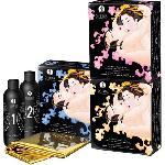Coffret Gelee et Drap de Massage Erotique - Fraise Vin Petillant