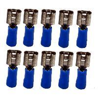 Coffret Outillage ELOTO 10 Clips pre-isoles + languettes bleus pre-isolees 6.35mm