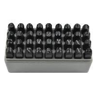 Coffret Outillage JBM Coffret lettres et numéros a frapper - 45 pieces - 8 mm