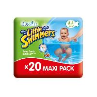 Coffret Produits Hygiene Bebe HUGGIES  20 Couches de bain Littles swimmers Maxi Pack Taille 3/4