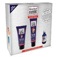 Coffret Produits Hygiene Corps Et Visage BLONDEPIL HOMME Coffret Gel Nettoyant + Gel de Rasage Transparent + Huile a Barbe