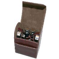 Coffret Sommelier - Coffret Oenologie Trousse Travel - accessoires mixologie - marron