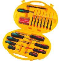 Coffrets et kit d outils Mallette tournevis embouts chrome vanadium 42 pieces PEREL