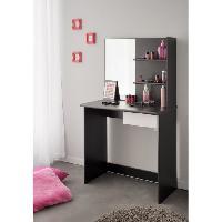 Coiffeuse FASHION Coiffeuse style contemporain noir et blanc mat - L 75 cm - Generique
