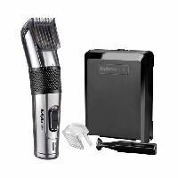 Coiffure BABYLISS E977E - Tondeuse a cheveux CARBON STEEL - 26 etapes de longueur - Sans fil - Lame auto aiguisable acier inoxydable - Noir