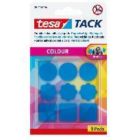 Colle - Pate Adhesive 9 pastilles adhesives TACK Couleur - Bleu