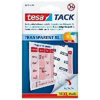 Colle - Pate Adhesive Pastilles adhesives TACK - Transparent - x 36