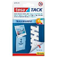 Colle - Pate Adhesive Pastilles adhesives TACK - Transparent - x 72