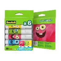 Colle - Pate Adhesive SCOTCH - Lot de 6 bâtons de colle 8g + 1 boîte Collector Monstres