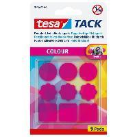 Colle - Pate Adhesive TESA 9 pastilles adhésives TACK Couleur - Rose