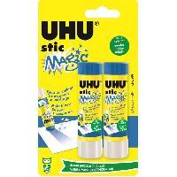Colle - Pate Adhesive UHU Lot de 2 Sticks Magic Bleu 8.2 g