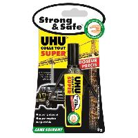 Colle - Pate Adhesive UHU Strong & Safe Sans Solvant Doseur 3g